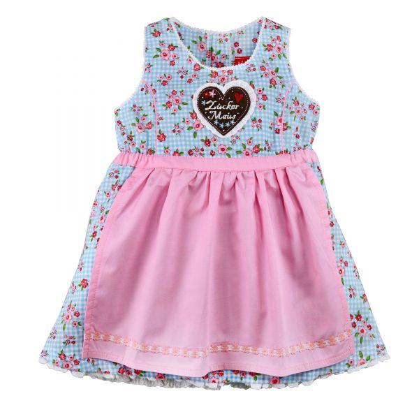 Kinderdirndl & Babydirndl rosa geblühmt - Bondi