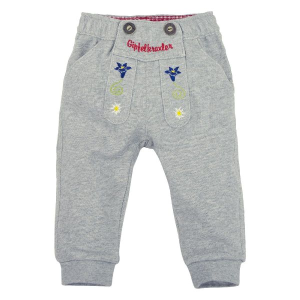 Kinder Trachtenhose Lederhose für Babys in grau - Bondi