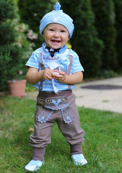 Kinderlederhosen & Baby Lederhose braun - P. Eisenherz