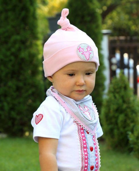 Babymütze Baby Mädchen in rosa - P. Eisenherz