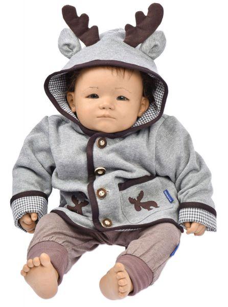 Trachtenjacke für Kinder und Baby -Kapuzenjacke Elch P. Eisenherz