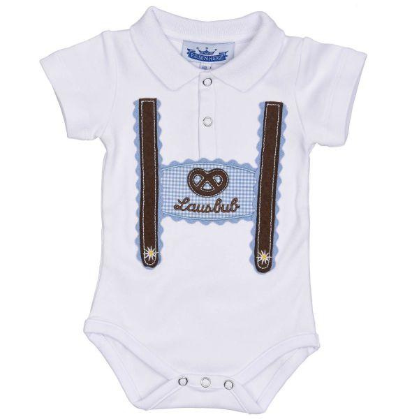 Baby Body Lederhose mit Polokragen - Trachtenbody P. Eisenherz