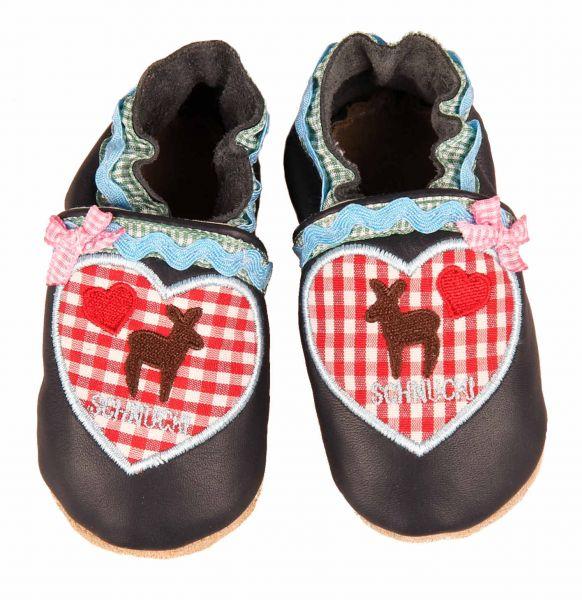 Trachtenschuhe für Baby und Kinder - Leder Krabbelschuhe - Anouk et Emile