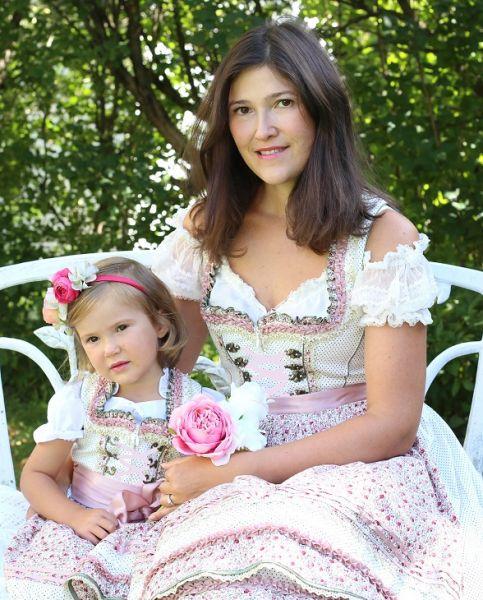 Mutter Tochter Dirndl Kleider - floral Kinderdirndl Krüger