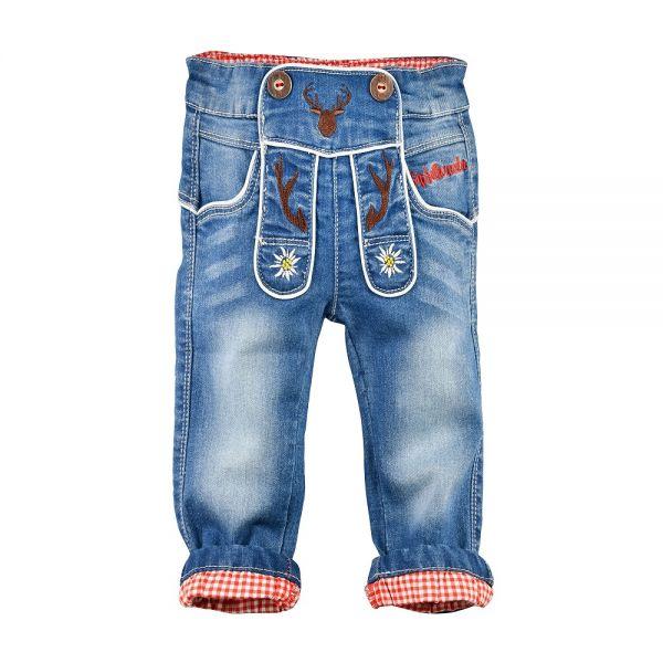 Kinder Baby Lederhose aus Jeans Denim - Kinder Trachten Bondi