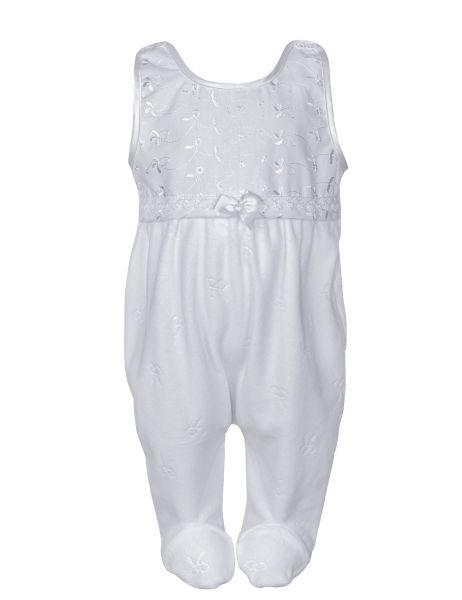 Taufstrampler in Weiß - unisex - Babystrampler von Carlina