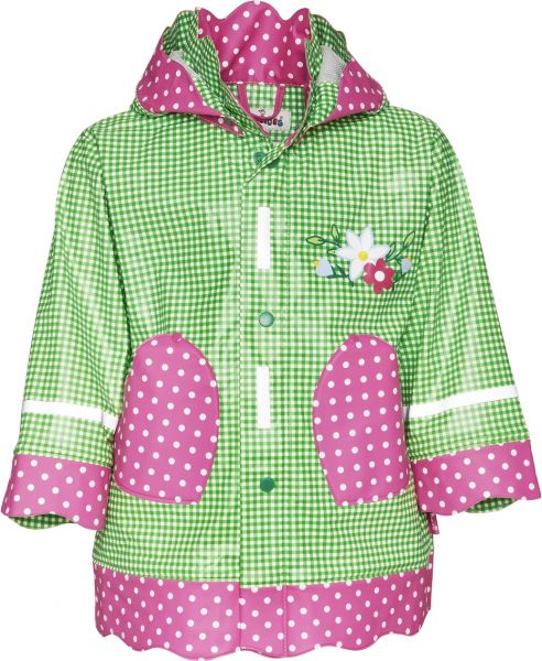 Trachtenmode Mädchen - Regenmantel Landhaus grün von Playshoes