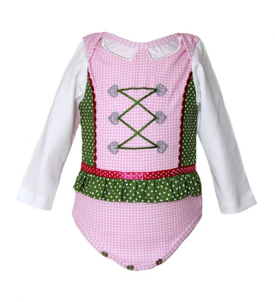 Baby Body Dirndl rosa grün - Baby Tracht Julia - Anouk et Emile