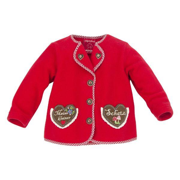 Fleece Trachtenjacke für Baby und Kinder - Mädchen Tracht Bondi