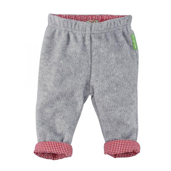 Baby Trachtenhose in Grau und Rot - Bondi Kindertrachten