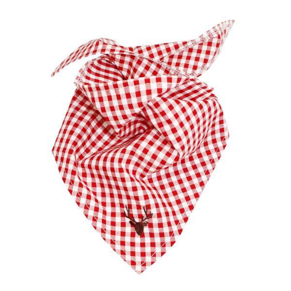 Baby und Kinder Trachtentuch für Jungen rot-weiß - Bondi