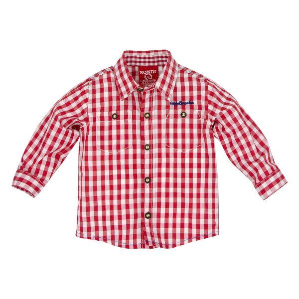 Trachtenhemd Kinder Baby Jungen rot - Bondi