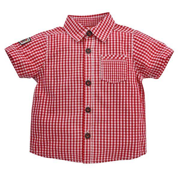 "Kinder-Trachtenhemd ""Mattis"", rot-weiß kariert- Bondi Kindertrachten"