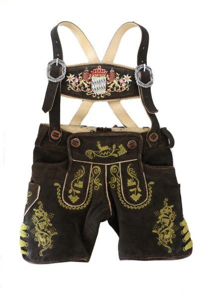 Festliche Kinderlederhosen & Baby Lederhose mit Bayern Wappen - Kindertrachten Almsach