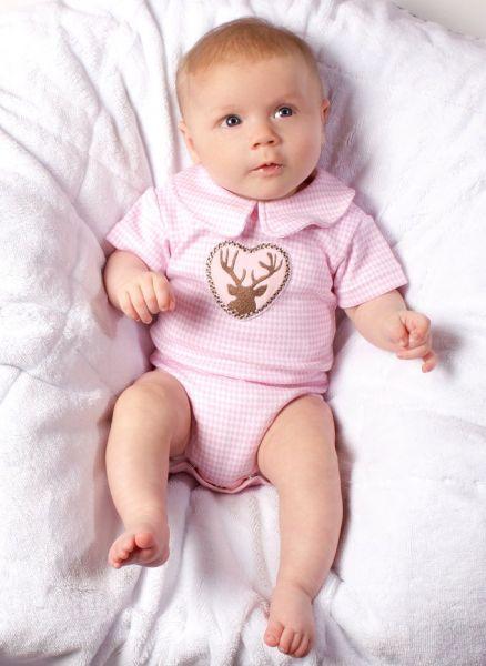 Trachtenbody Bayern Dirndl Body rosa - Baby Tracht P. Eisenherz
