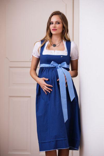 Umstandsdirndl Schwangerschaftsdirndl Umstandskleid blau - Ploom