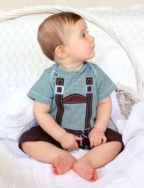 Baby Lederhosen Strampler Spieler grün - Anouk et Emile Baby Tracht