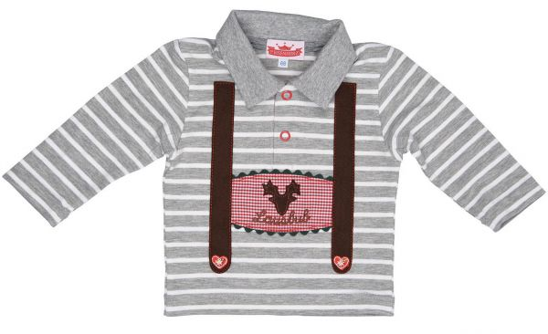 Trachtenshirt für Kinder und Baby mit Polokragen - Kinder Trachten P. Eisenherz