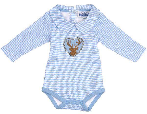 Trachtenbody Bayern Body blau - Baby Tracht P. Eisenherz