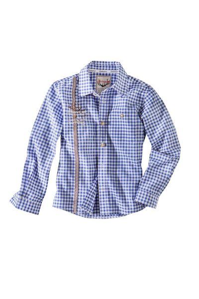 Trachtenhemd Kinder Jungen blau - Kleinkinder Trachten Stockerpoint