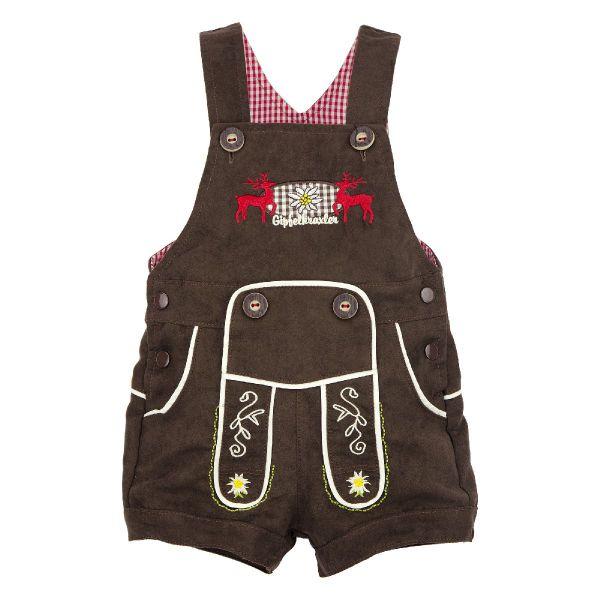 Baby Lederhose Latzhose - Bondi Babytracht