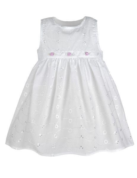 """Das kurze Taufkleid """"Roselle"""" ist ein weißer Traum für eine Baby Mädchen Taufe!"""