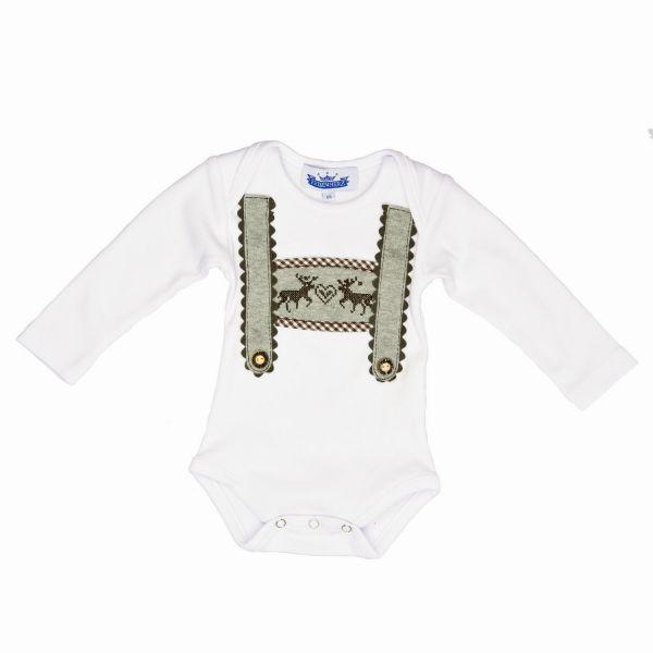 Baby Body Lederhose mit Elch - Trachtenbody P. Eisenherz