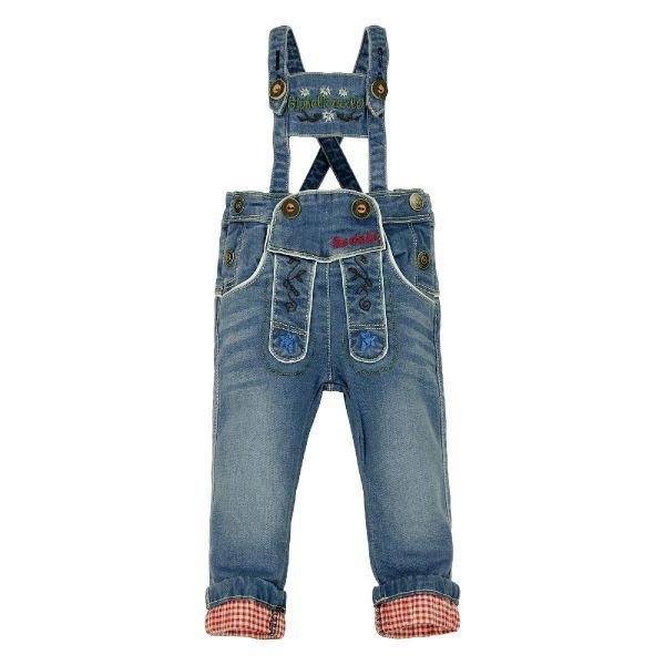 Baby Lederhose Latzhose aus Jeans - Trachtenmode Bondi