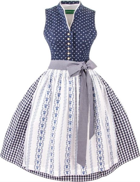 Mutter Kind Dirndl blau - Country Line