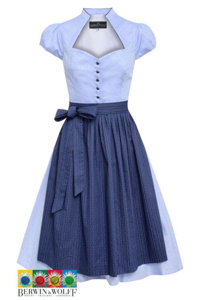 Mutter Kind Dirndl festlich traditionell blau- Berwin & Wolff