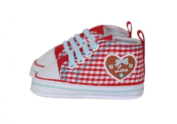 Baby Trachtenschuhe für Mädchen rot - Baby Sneaker Playshoes