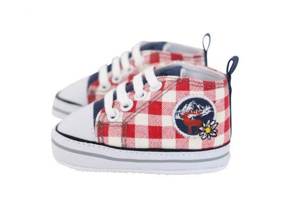 Baby Trachtenschuhe für Jungen rot - Baby Sneaker Playshoes