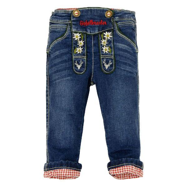 KInderlederhosen Baby Lederhose aus Jeans - Kindertrachten Bondi