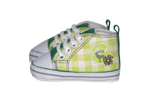 Baby Trachtenschuhe für Jungen grün - Baby Sneaker Playshoes