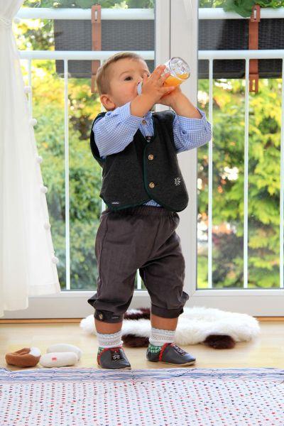 Baby Tracht Knickerbocker - Baby Lederhose - Babygewand Carlina