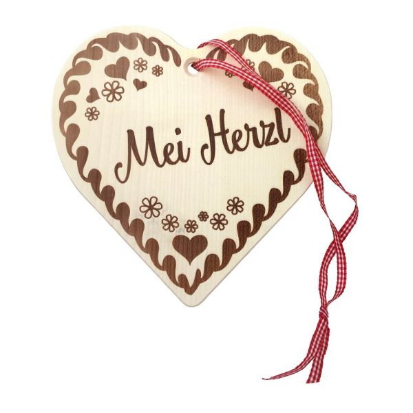 Kinder Brotzeitbrett - Mei Herzl von Paul der Bär