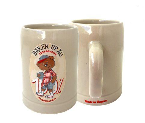Kinder Steinkrug rot - Paul der Bär