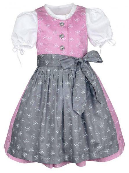 Kinderdirndl Baby Dirndl festlich rosa grau - Mutter Tochter Dirndl Berwin & Wolff