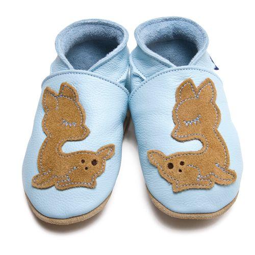 Leder Trachtenschue für Baby und Kind - Krabbelschuhe blau Inch Blue